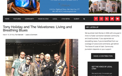 Utah Stories Write-up: Tony Holiday and The Velvetones: Living and Breathing Blues
